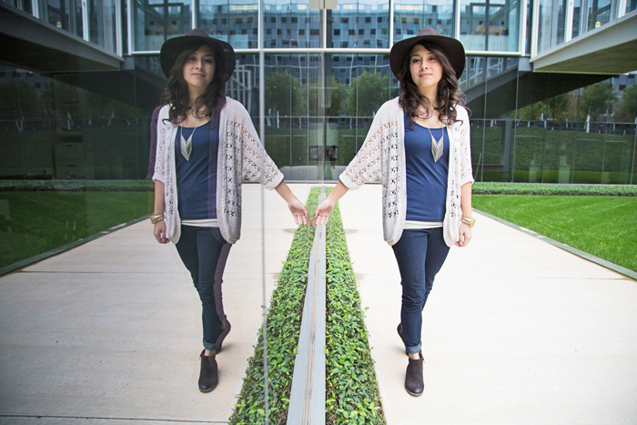We love that skinny jeans, boots, and hats can be paired with almost anything when kept together! | Brewedtogether.com
