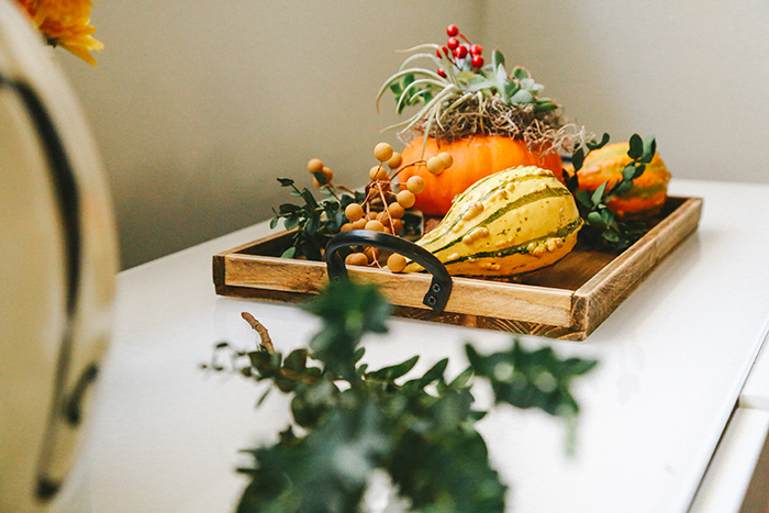 Fall centerpiece | brewedtogether.com
